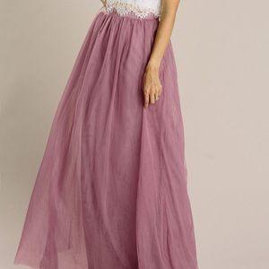 ❗️Best Seller❗️Anabelle Mauve Tulle Maxi Skirt M